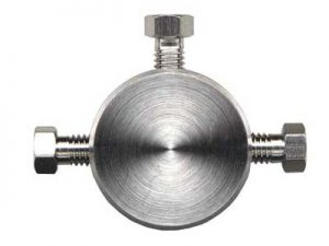 """1602 SS Tee for 1/16"""" Tubing, 0.25mm Thru-Hole"""