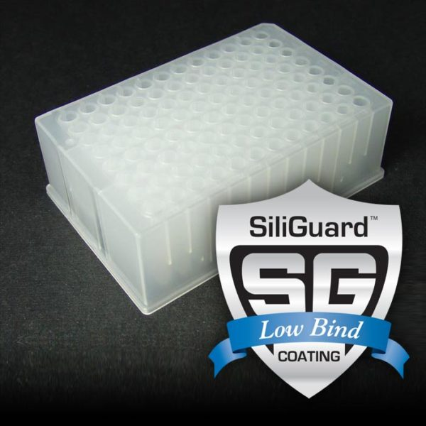 17P687GC 1mL 96-Well Collection Plate with Round Well Bottoms, with SiliGuard Low Bind Coating