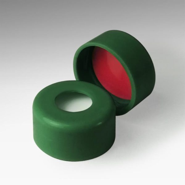 20044G-CASE 11mm Green Snap Caps with Silicone/PTFE Liners
