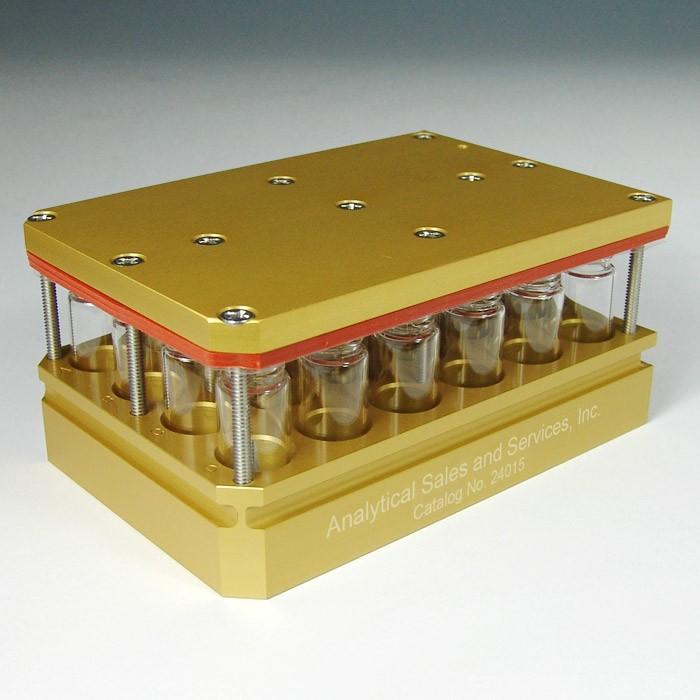 24015 24 x 4mL Aluminum Multi-well Reaction Block (for 1 Dram Vials)