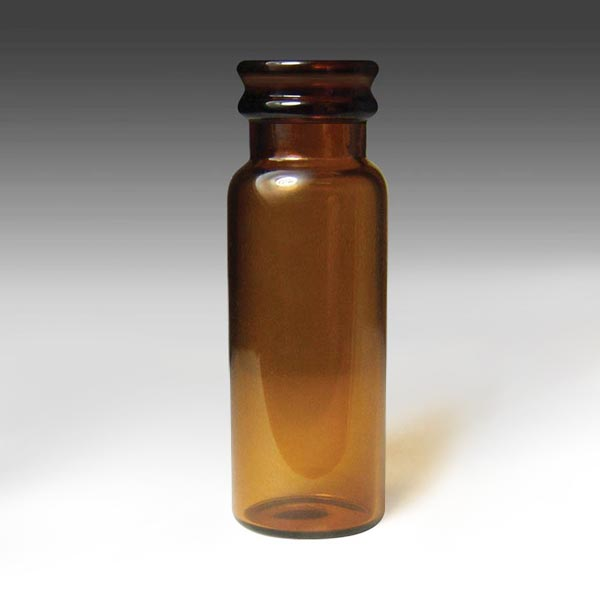 31513-CASE 13mm, 15 x 45mm, 4mL Amber Glass Snap and Seal Vials