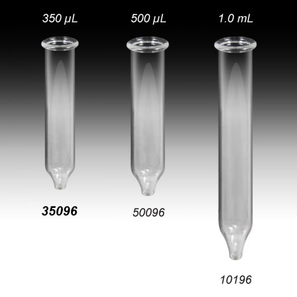 35096 Select-A-Vial 350µL Clear Conical Glass Inserts