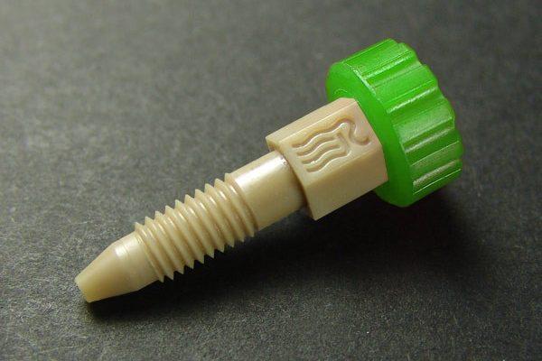 """46000-2824GN RheFlex One Piece PEEK® Fitting for 1/16"""" OD Tubing - Green"""