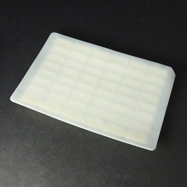 48010CM Pierceable Santoprene Cap Mat for 48-Well Plates, White