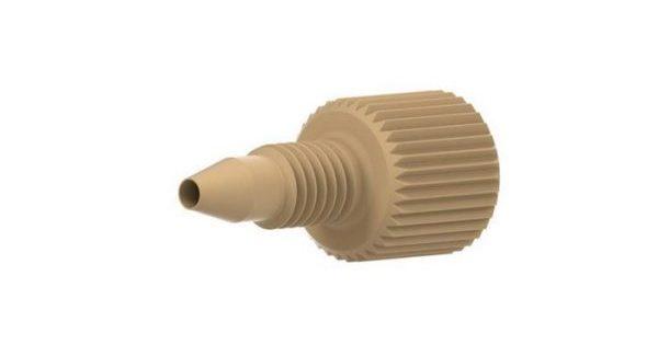 55120 PEEK® One-Piece Fingertight Fitting, 10-32, Natural