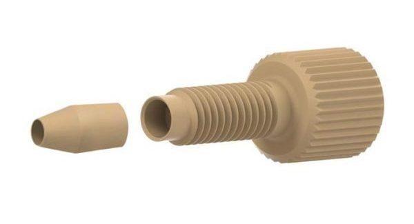 55330X PEEK® Two-Piece Long Fingertight Fitting with PEEK® 55142 Ferrule