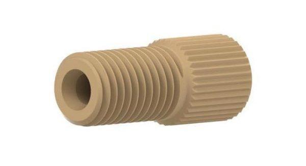 "59130 PEEK® Large Bore Flangeless Nut for 1/8"" OD Tubing"