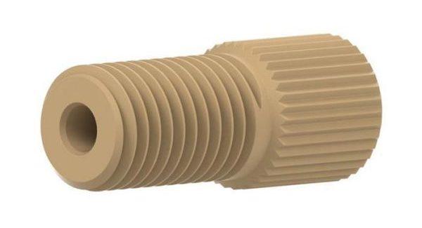 59136 PEEK® Flangeless nut, 5/16-24 Flat-Bottom, Natural