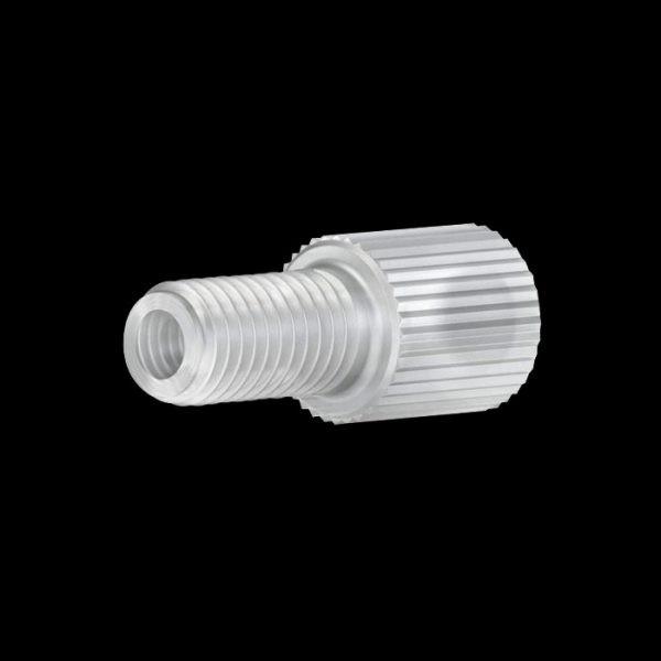 "59220X Polypropylene Flangeless Male Nut for 1/16"" OD Tubing, 1/4-28"