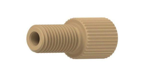 """59230 PEEK® Flangeless Male Nut for 1/16"""" OD Tubing, 1/4-28"""