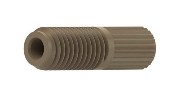"""59286 Headless Flangeless PPS Male Nut for 1/16"""" OD Tubing, 1/4-28"""