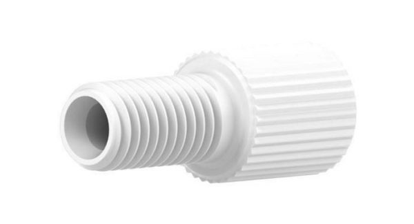 """59303 Delrin® Flangeless Male Nut for 1/8"""" OD Tubing, White"""