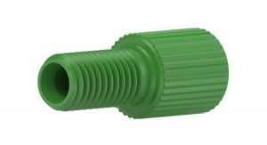 """59305X Delrin® Flangeless Male Nut for 1/8"""" OD Tubing, Green"""