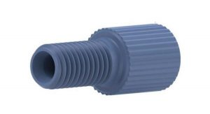 """59306X Delrin® Flangeless Male Nut for 1/8"""" OD Tubing, Blue"""