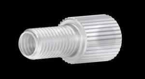 "59320X Polypropylene Flangeless Male Nut for 1/8"" OD Tubing"