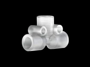 """59633 Tefzel Tee with .050"""" Thru-Hole for 1/8"""" OD Tubing"""