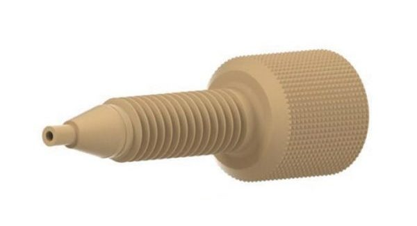 """59654 PEEK® Extra-Long Adapter, 0.030"""" ID, 1/4-28 to 10-32"""