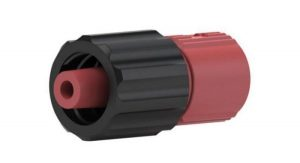 59655 PEEK® Quick Connect Luer Adapter - Male Luer to 1/4-28 Female, Red