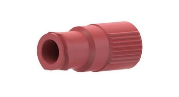 59658 PEEK® Quick Connect Luer Adapter - Female Luer to 1/4-28 Female, Red