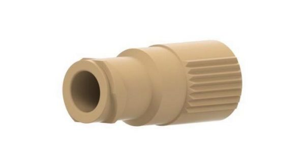 59659 PEEK® Quick Connect Luer Adapter - Female Luer to 10-32 Female, Natural