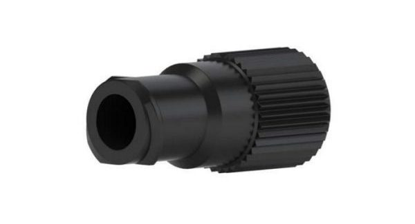 59660 Quick Connect Luer Adapter - Female Luer To M6 Female, Black