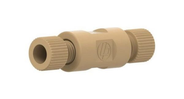 """59702 PEEK® Webbed Union Assembly with .020"""" Thru-Hole for 1/16"""" Tubing"""