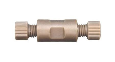 """59703 PEEK Webbed Union Assembly with .050"""" Thru-Hole for 1/8"""" Tubing"""
