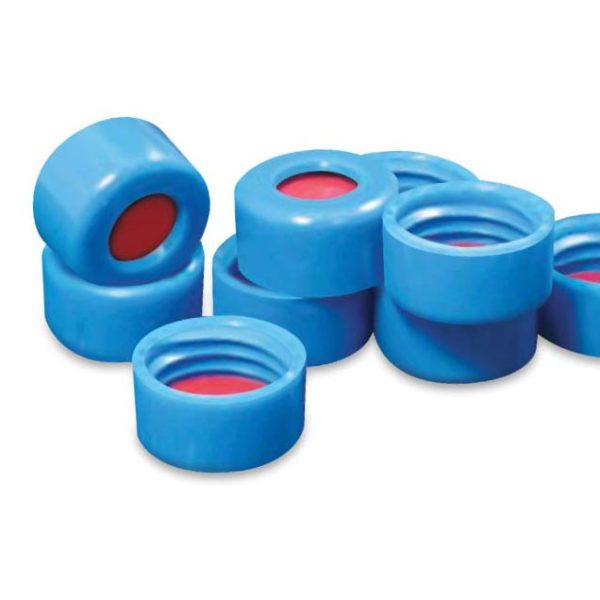 80095-CASE 9mm Blue Twist Cap with PTFE/Silicone/PTFE Liner