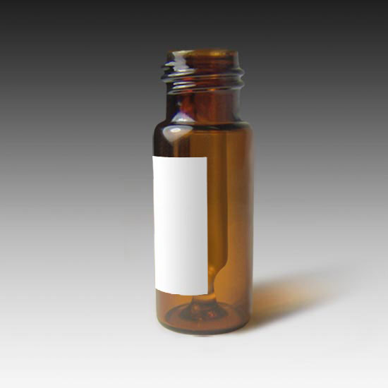 81233AM 9mm,12 x 32, Amber Glass Twist MicroVial with 300µL Glass Insert and Marking Spot