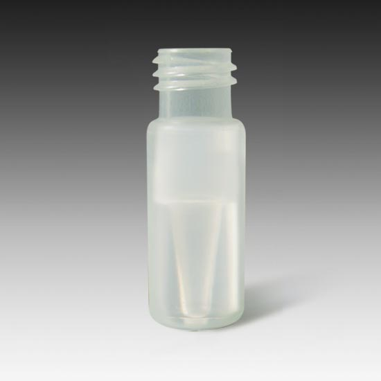 88234 9mm, 12 x 32, Polypropylene Wide Mouth Twist MicroVial with Molded 500µL Volume Insert