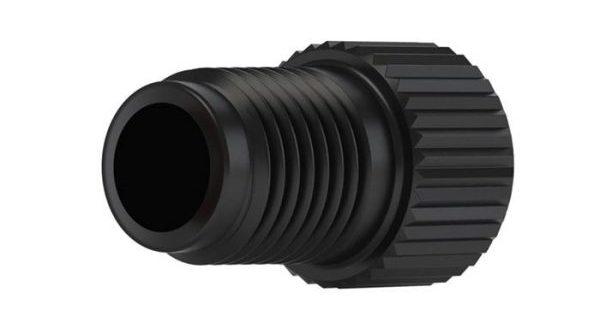 "89662 PEEK®/Tefzel® Flangeless Fitting for 5/16"" OD Tubing, 1/2-20 Flat-Bottom Port"