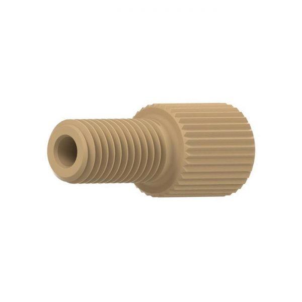 "95811X Flangeless Nut for 1/16"" OD Tubing, 10-32 Flat-bottom"
