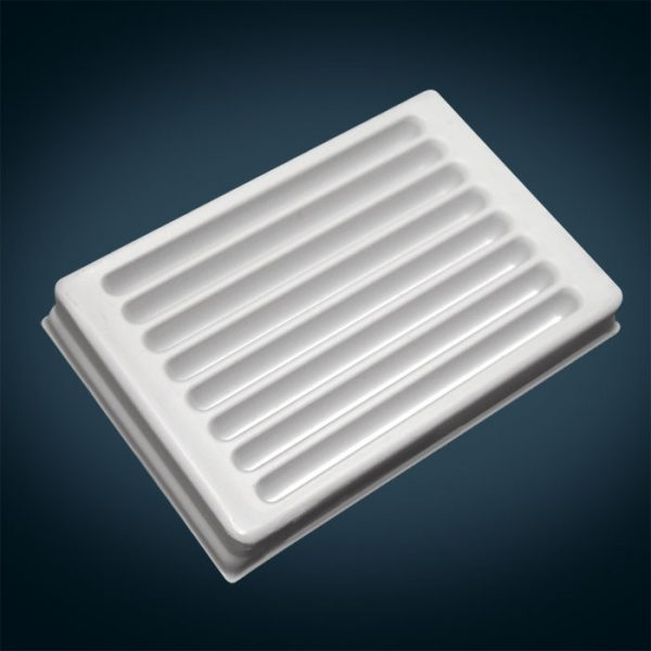 96012 V-Trough for 12 Position Multi Channel Pipetor, 8 Channel, White Polystyrene, 3mL/Channel