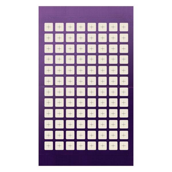 961202 Adhesive Sealing Film, Teflon (PTFE), Square 96-Well Pattern, Ultra Thin, Scored Pre-slit, Purple