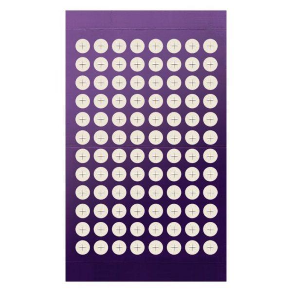 961802 Adhesive Sealing Film, Teflon (PTFE), Round 96-Well Pattern, Scored Pre-slit, Ultra Thin, Purple