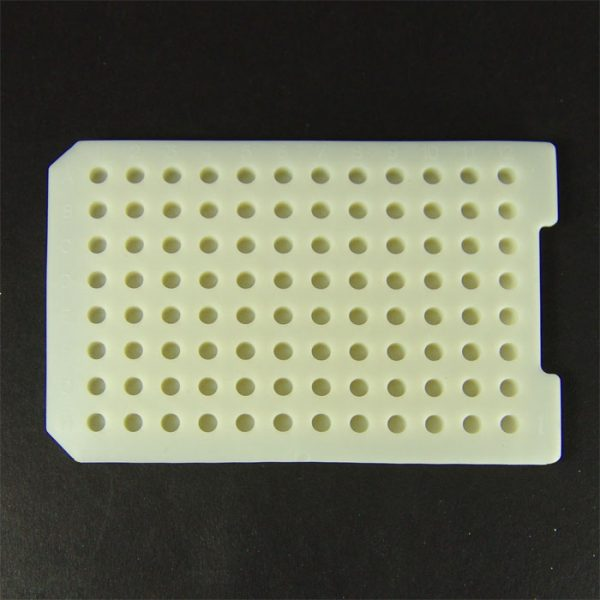 96230 Beige Rubber Cap Mat, Round Well, Reduced Evaporation
