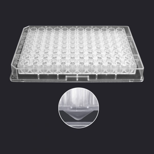 96340 340µL PP 96-Well Collection Plate with V-Shaped Well Bottoms, Clear