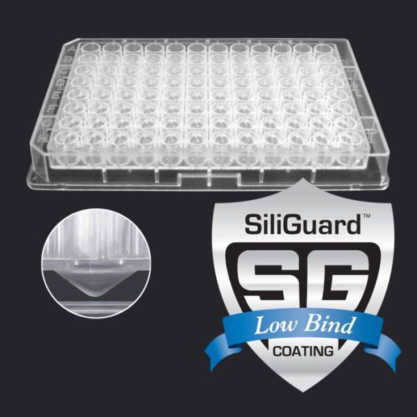 340µL 96-Well Collection Plate with V-Shaped Well Bottoms, with SiliGuard™ Low Bind Coating
