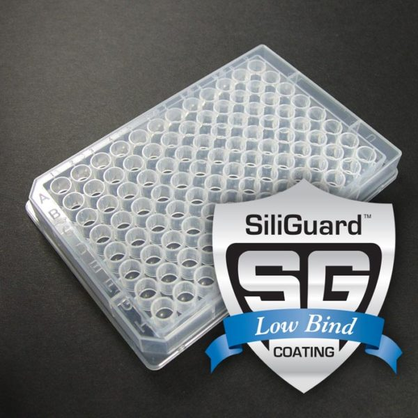 96355GC 355µL 96-Well Collection Plate with U-Shaped Bottom Wells, SiliGuard Low Bind Coating