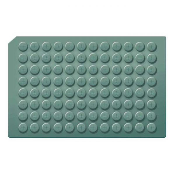 963670 Pre-Scored Round Well Cap Mats with Molded Silicone/PTFE Liner