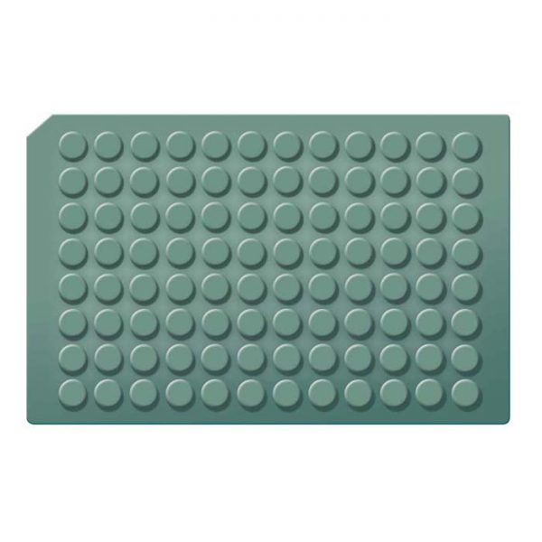 963675 Round Well Cap Mats with Molded Silicone/PTFE Liner, good for long-term storage at -80C