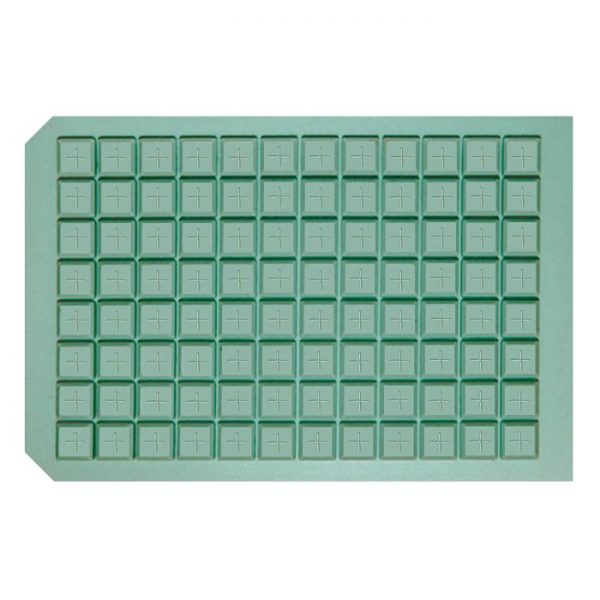 963724 Pre-Slit Square Well Cap Mat with Molded Silicone/PTFE Liner