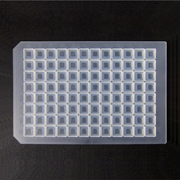 964008 Clear Ultra Thin Square Cap Mat, Soft Silicone/PTFE