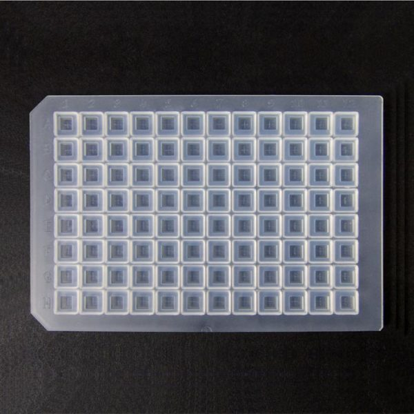 964085 Clear Ultra Thin Pre-Slit Square Cap Mat, Soft Silicone/PTFE