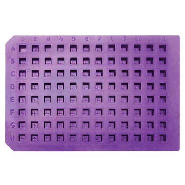 965085 Purple Ultra Thin Pre-Slit Square Cap Mat, Soft Silicone/PTFE