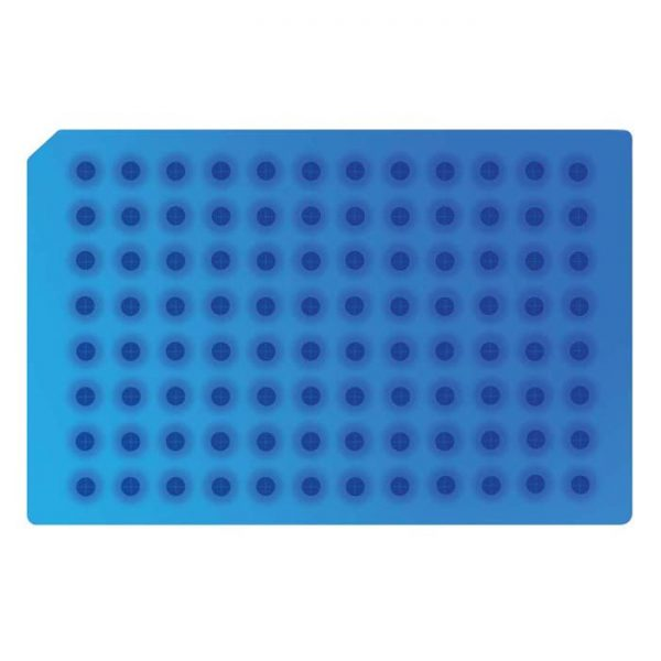 967701 Light Blue Pre-Slit Soft Silicone/PTFE 96 Round Well Cap Mat
