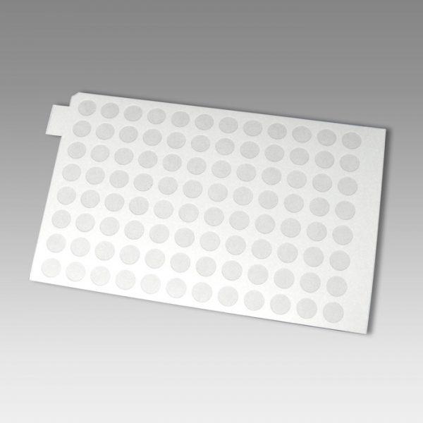 96893 Adhesive Sealing Film, Teflon (PTFE), Round 96-Well Pattern, White