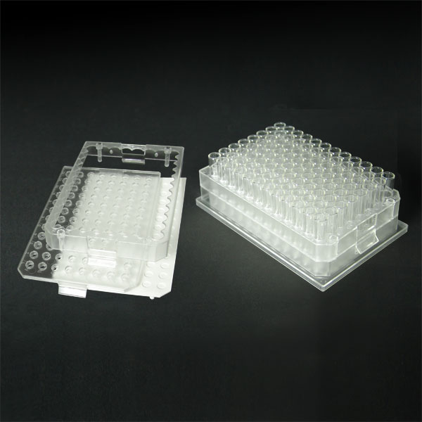 96BB15-C 1.5mL 96-Well Clear Flexi-Tier Block System with Clear Flat Bottom Glass