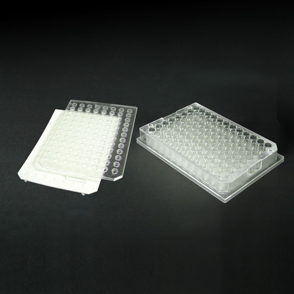 96FP05-C 0.5mL 96-Well Clear Flexi-Tier Block System with Clear Conical Glass