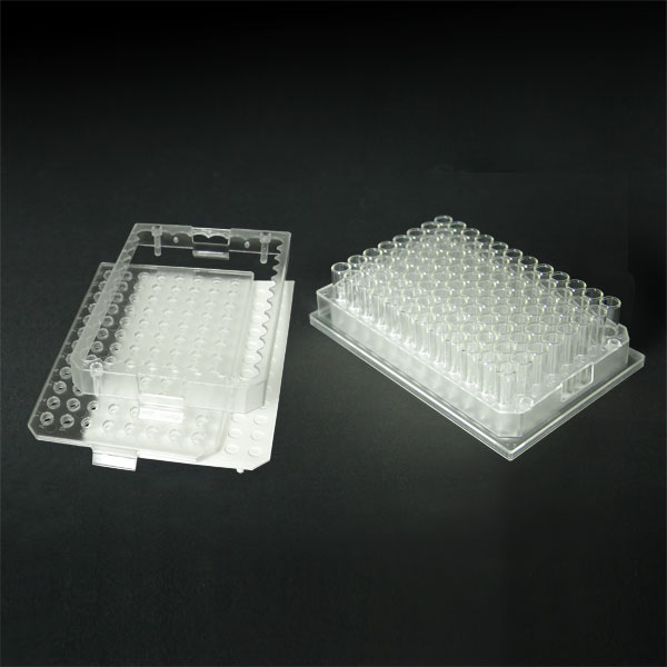96FP10-C 1.0mL 96-Well Clear Flexi-Tier Block System with Clear Conical Glass
